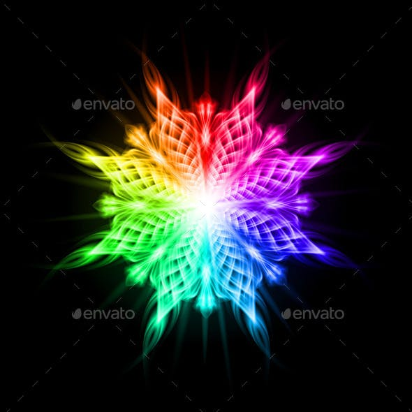 Multicolored Pattern on the Black Background