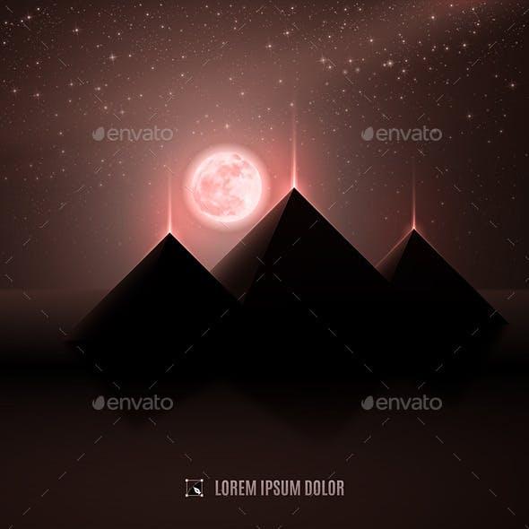 Brown Pyramid Landscape