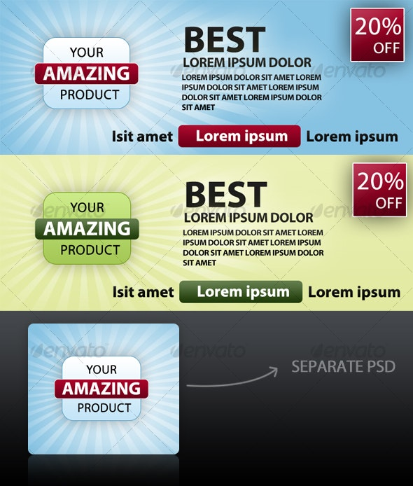 Graphic for product show case  - Sliders & Features Web Elements
