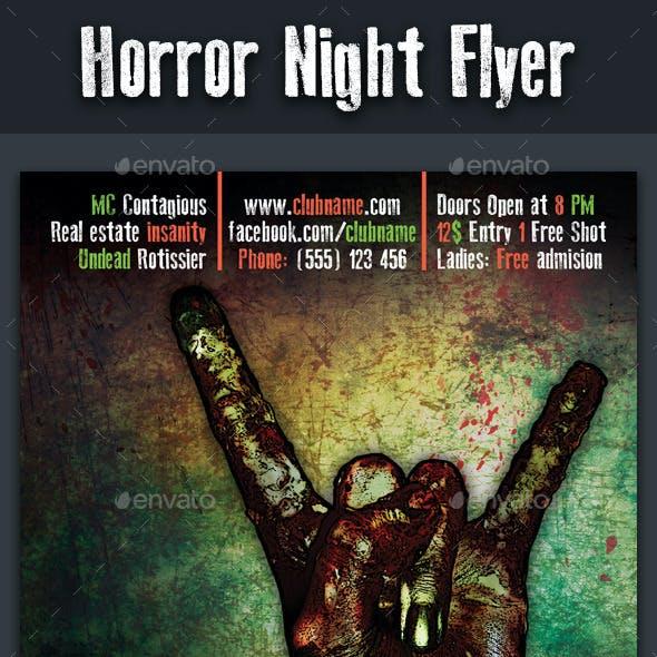Horror Night Flyer