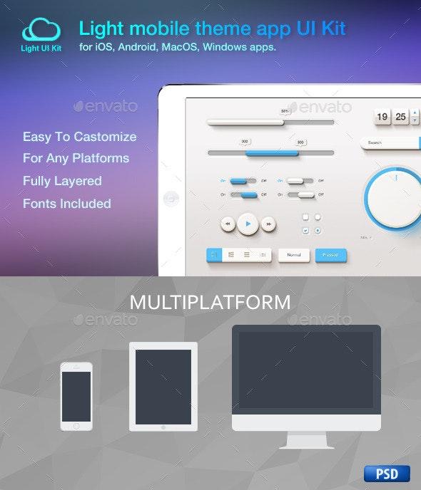 Light Mobile Theme App UI Kit - User Interfaces Web Elements
