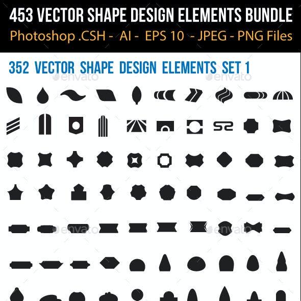 453 Vector Shape Design Elements Bundle