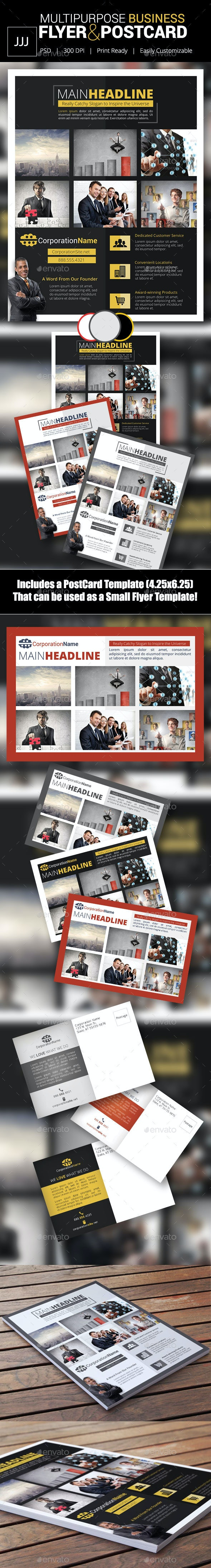 Business Flyer 41 with Postcard - Corporate Flyers
