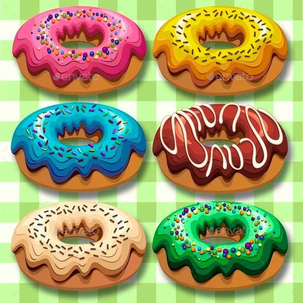 Donuts 6 Flavours Set