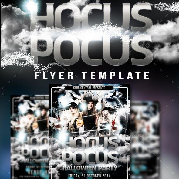 Hocus Pocus Halloween Party Flyer Template