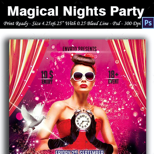 Magical Nights Party Flyer