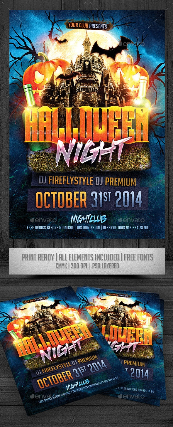 Halloween Night Flyer - Events Flyers
