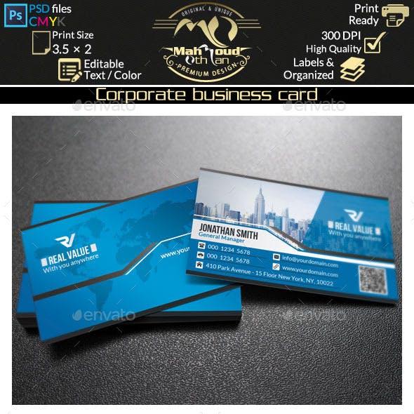 Modern Blue Business Card 45