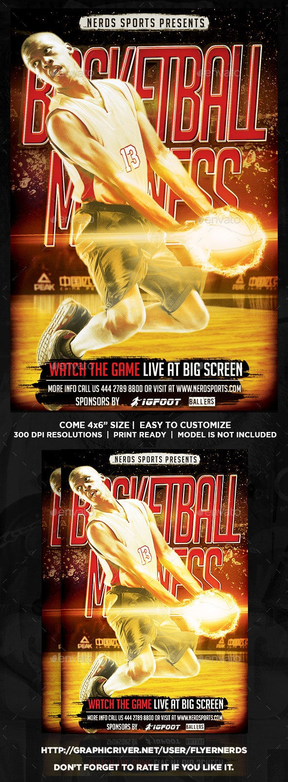Basketball Madness Sports Flyer - Sports Events