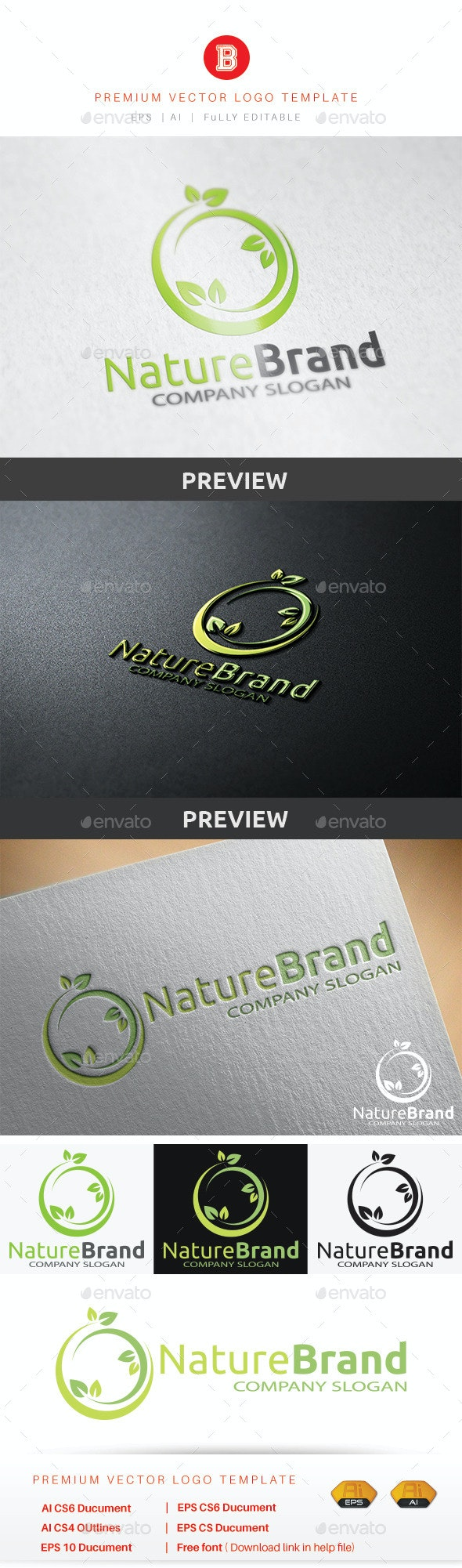 Nature Brand - Nature Logo Templates