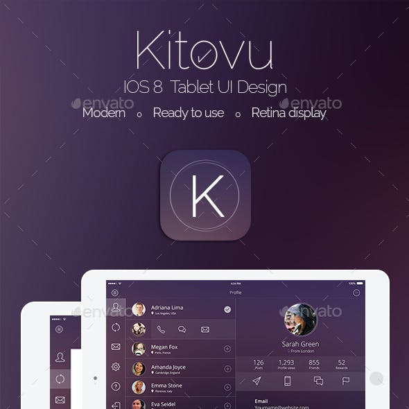 Kitovu IOS 8 Tablet Design