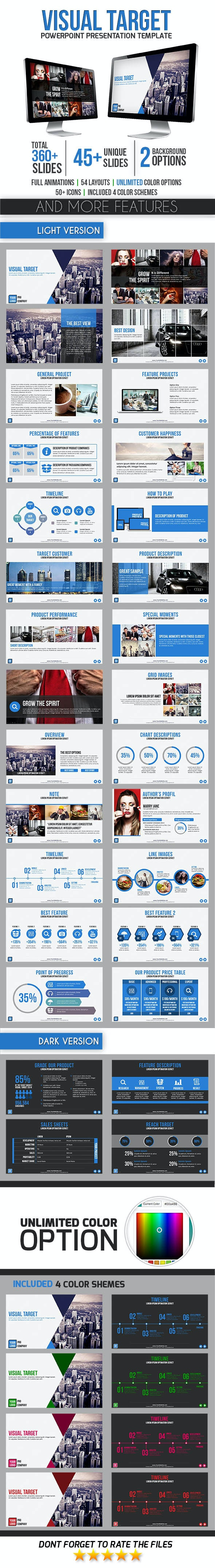 Visual Target - PowerPoint Templates Presentation Templates