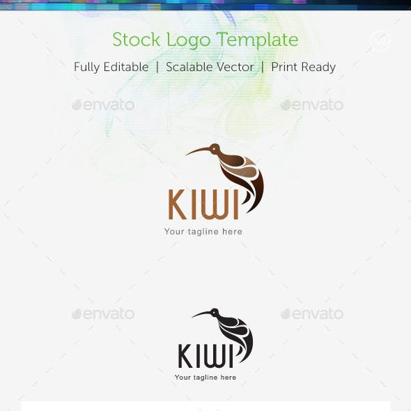 Kiwi Stock Logo Template