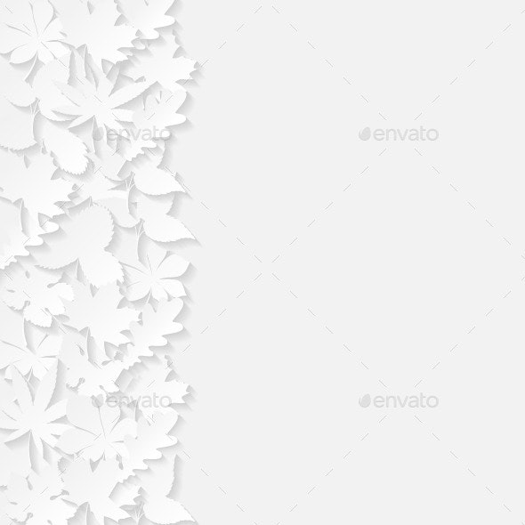 Abstract Background with Paper Leaves - Seasons Nature