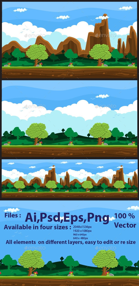 Game Background Nature - Backgrounds Game Assets