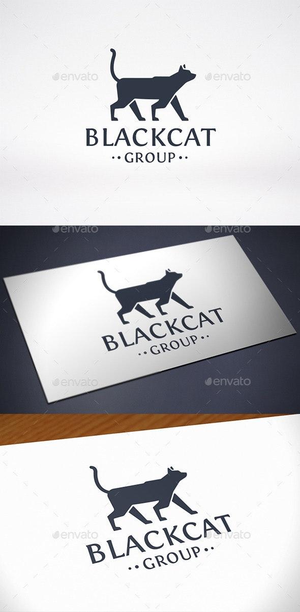 Black Cat Logo Template - Animals Logo Templates