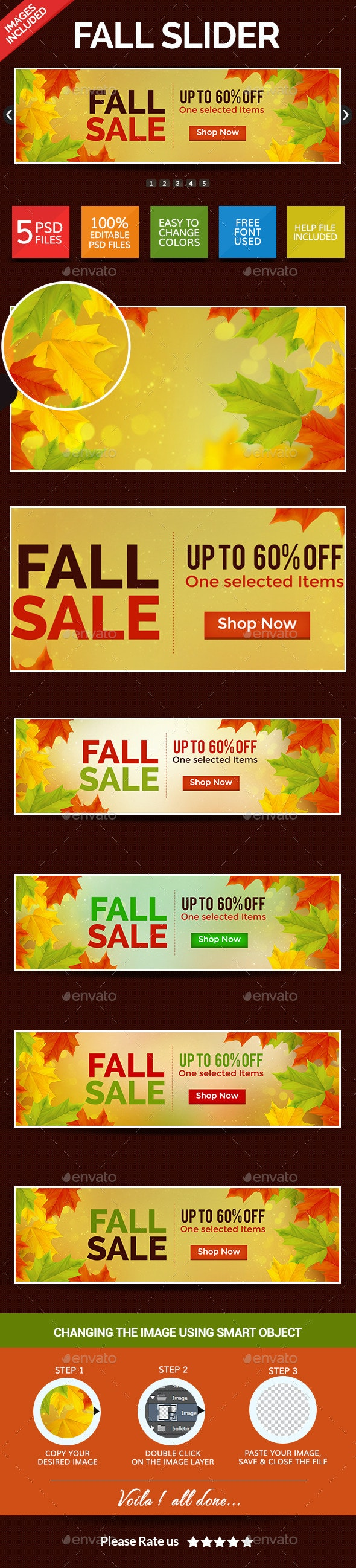 Fall Sale Slider - Sliders & Features Web Elements