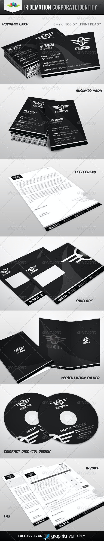 Iridemotion Corporate Identity - Stationery Print Templates