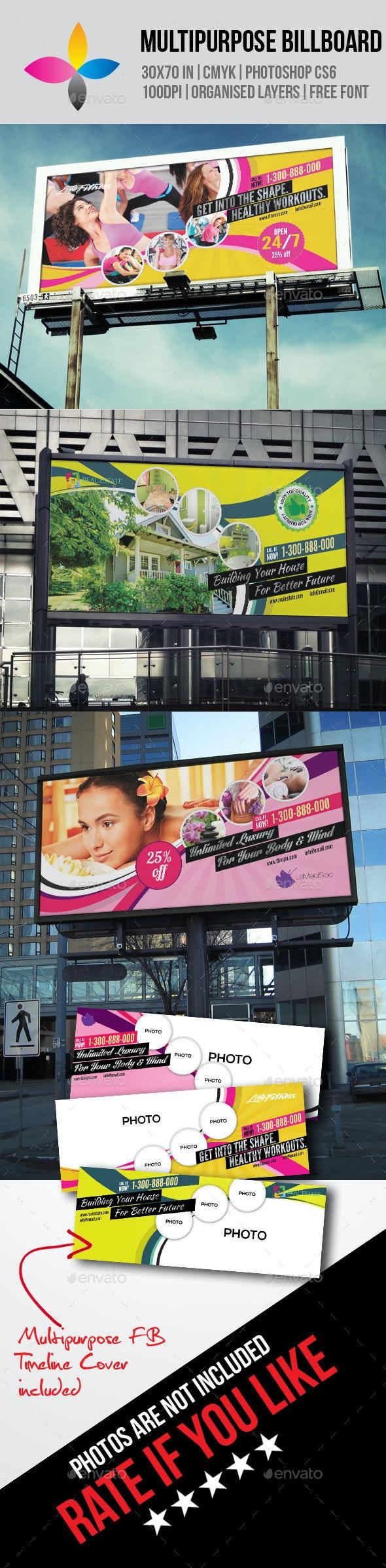 Multipurpose Billboard - Signage Print Templates
