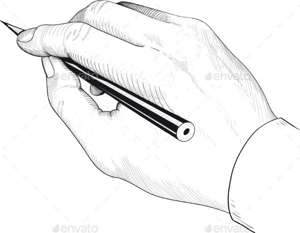 Hand of the Person who Writes - Retro Technology