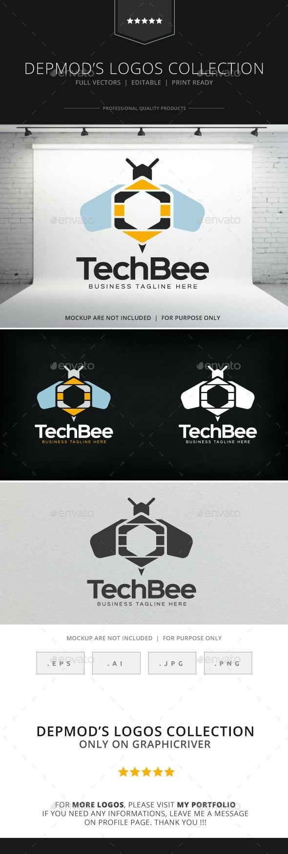 Tech Bee Logo - Animals Logo Templates