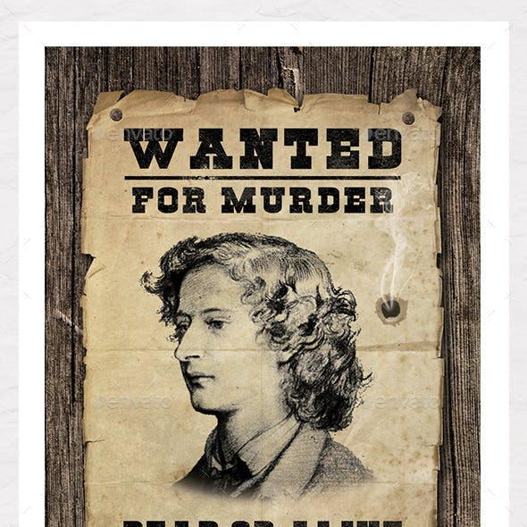 Wanted Poster Graphic - Create Your Own