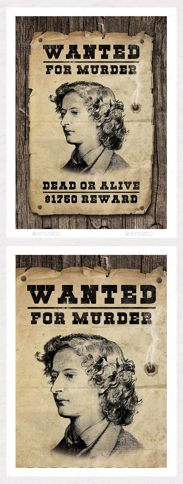 Wanted Poster Graphic - Create Your Own  - Miscellaneous Events