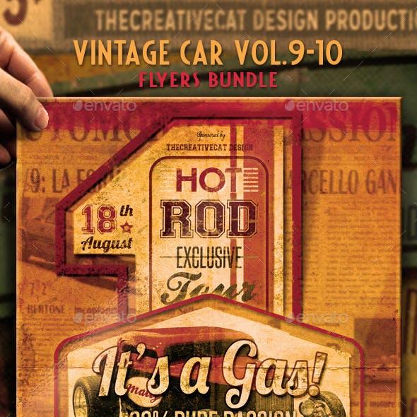 Vintage Car Flyer/Poster Bundle Vol. 9-10
