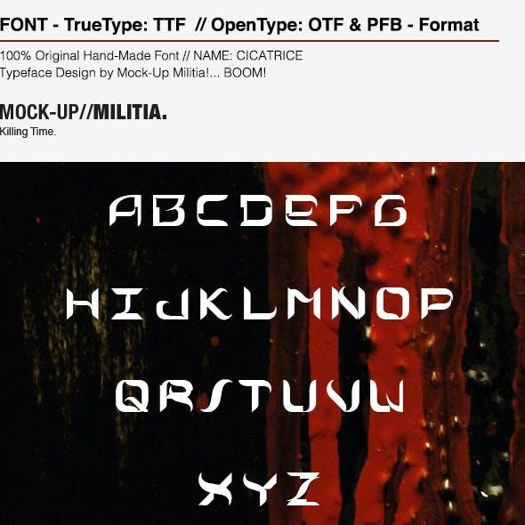 Cicatrice | Sharp Curvy Modern Futuristic Font