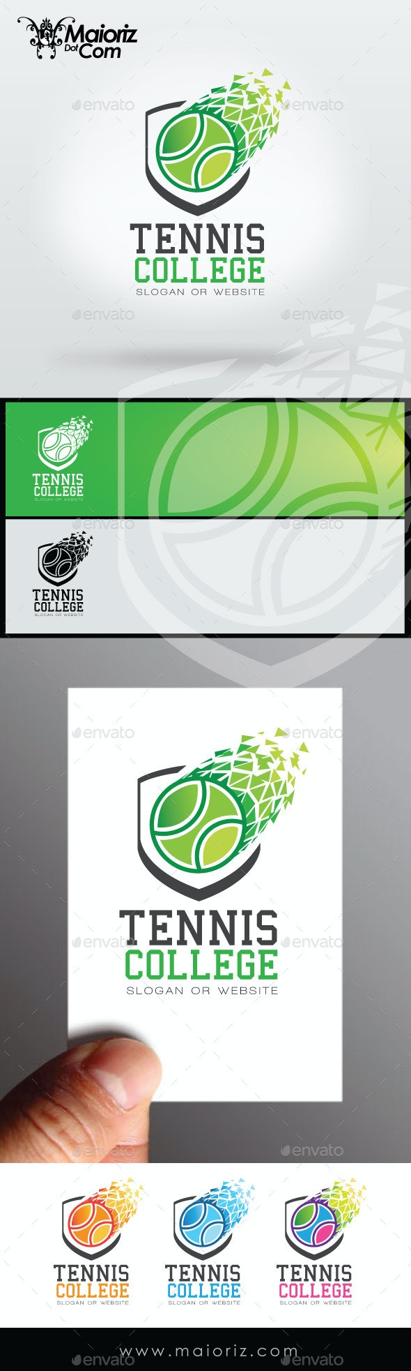Tennis College Logo - Crests Logo Templates