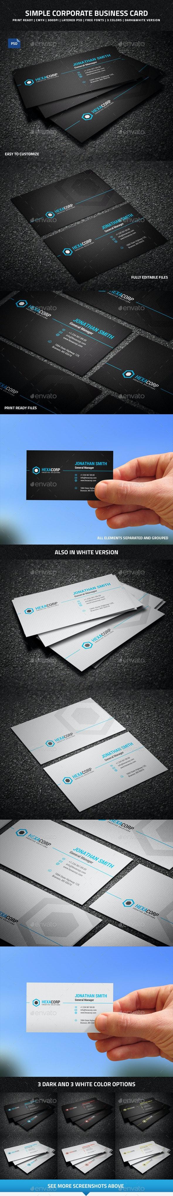 Simple Corporate Business Card - 45 - Corporate Business Cards