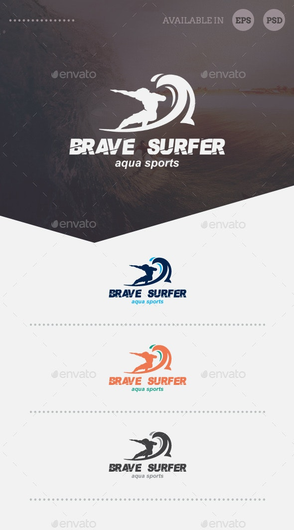 Brave Surfer Logo Template - Humans Logo Templates
