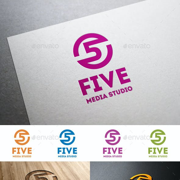 Five Media Studio Logo Template