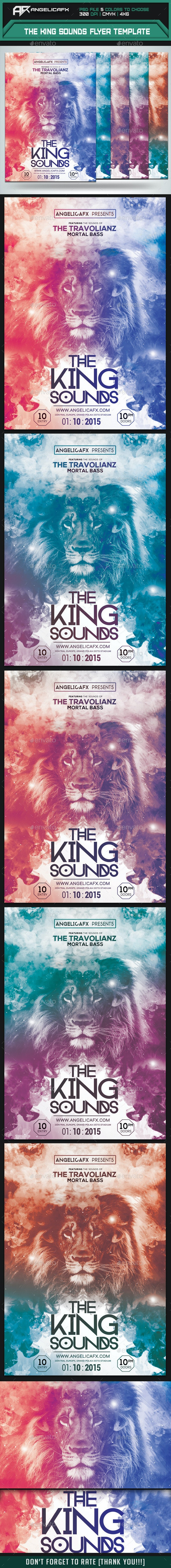 The King Sounds Flyer Template - Clubs & Parties Events