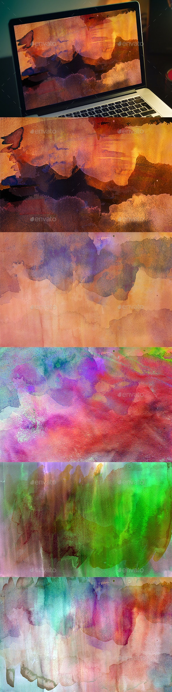 Abstract Watercolor Textures