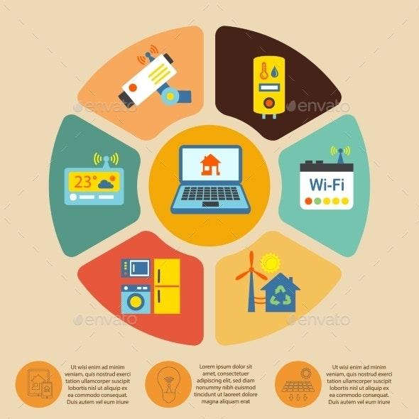 Smart Home Infographics - Web Technology