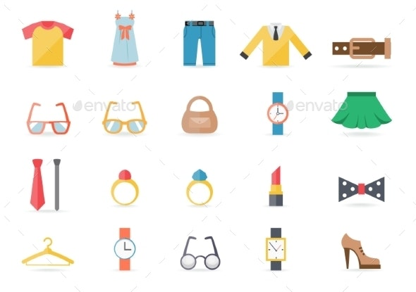 Various Clothing and Accessory Themed Graphics - Miscellaneous Vectors