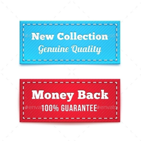 New Collection and Money Back Tag Badges - Man-made Objects Objects