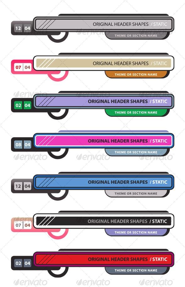 Original Header Shape 100 - Decorative Vectors