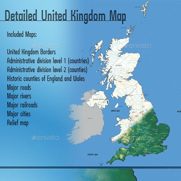 Detailed Map of United Kingdom