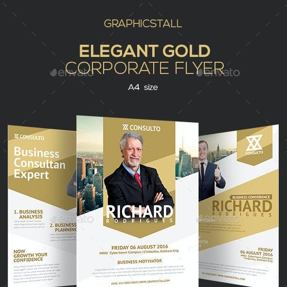 Elegant Gold Corporate Flyer