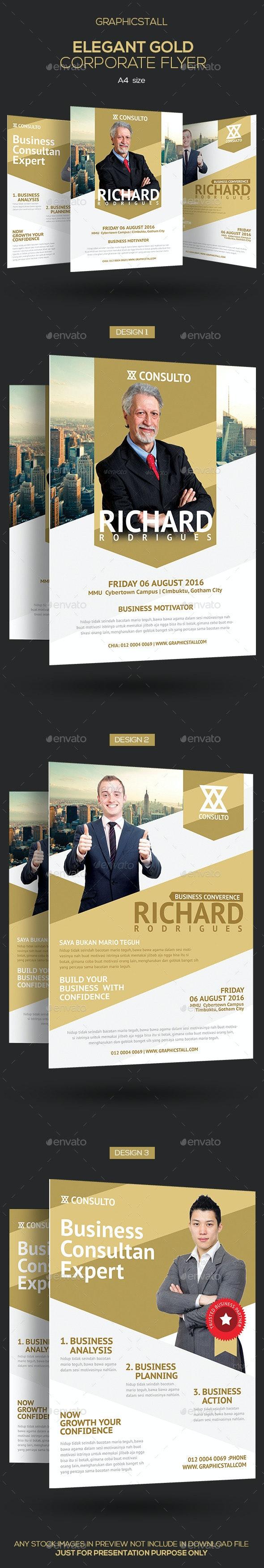 Elegant Gold Corporate Flyer - Corporate Flyers