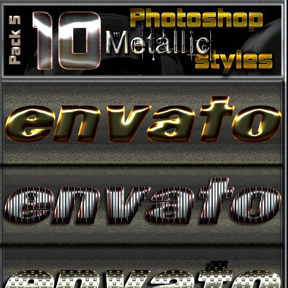 10 Metallic Photoshop Text Effects-