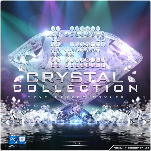 12 Crystal Collection Text Effect Styles Vol.2