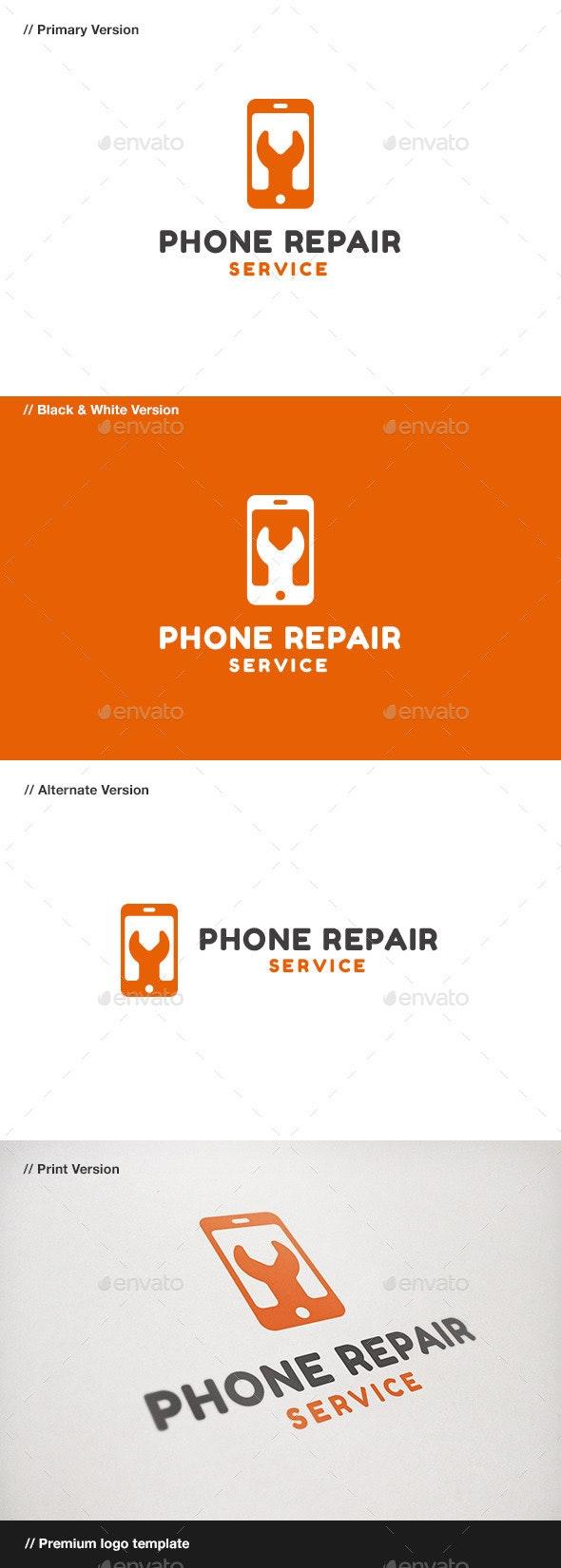 Phone Repair - Objects Logo Templates