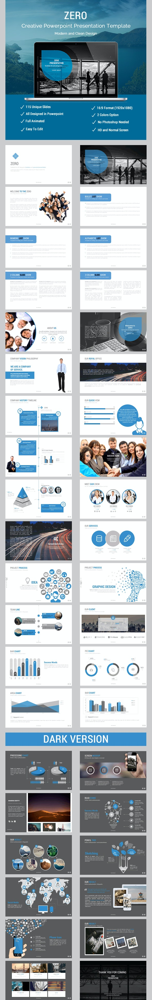 Zero Business Presentation - Business PowerPoint Templates