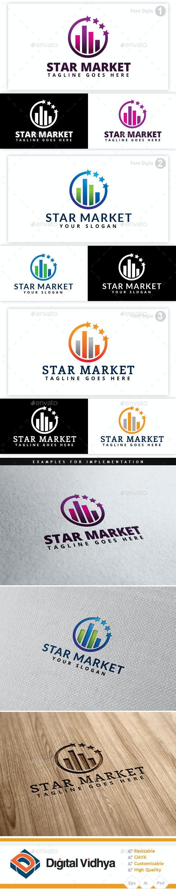Star & Market Logo - Symbols Logo Templates