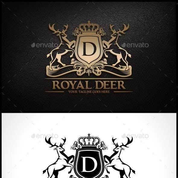 Royal Deer Logo Template
