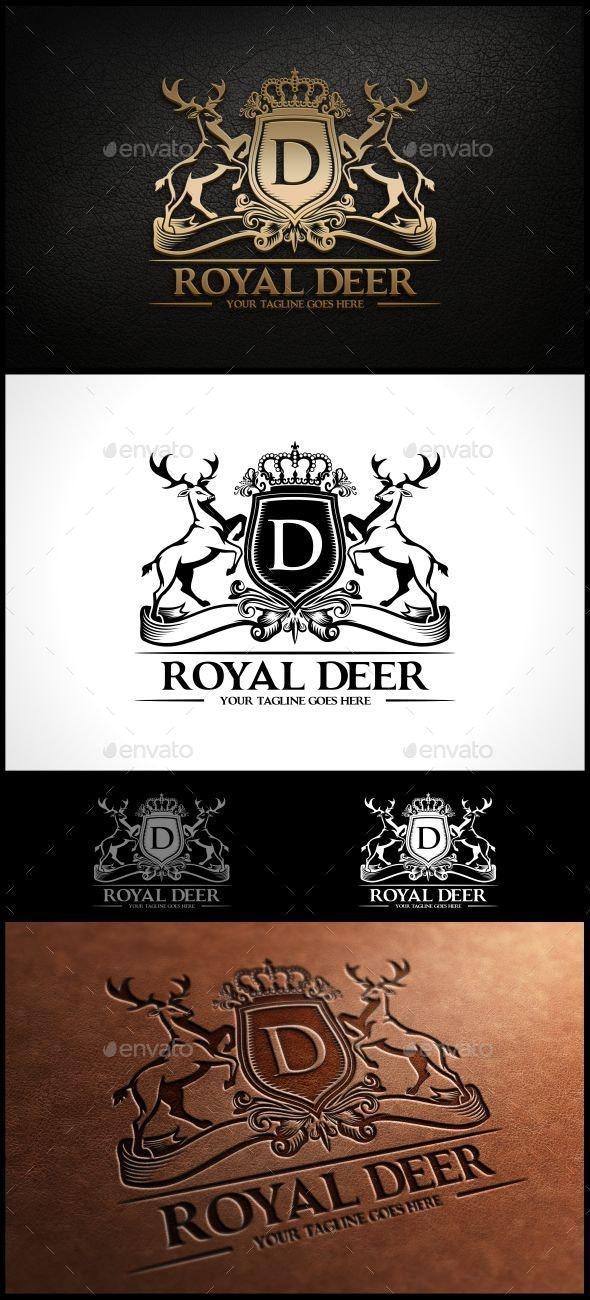 Royal Deer Logo Template - Animals Logo Templates