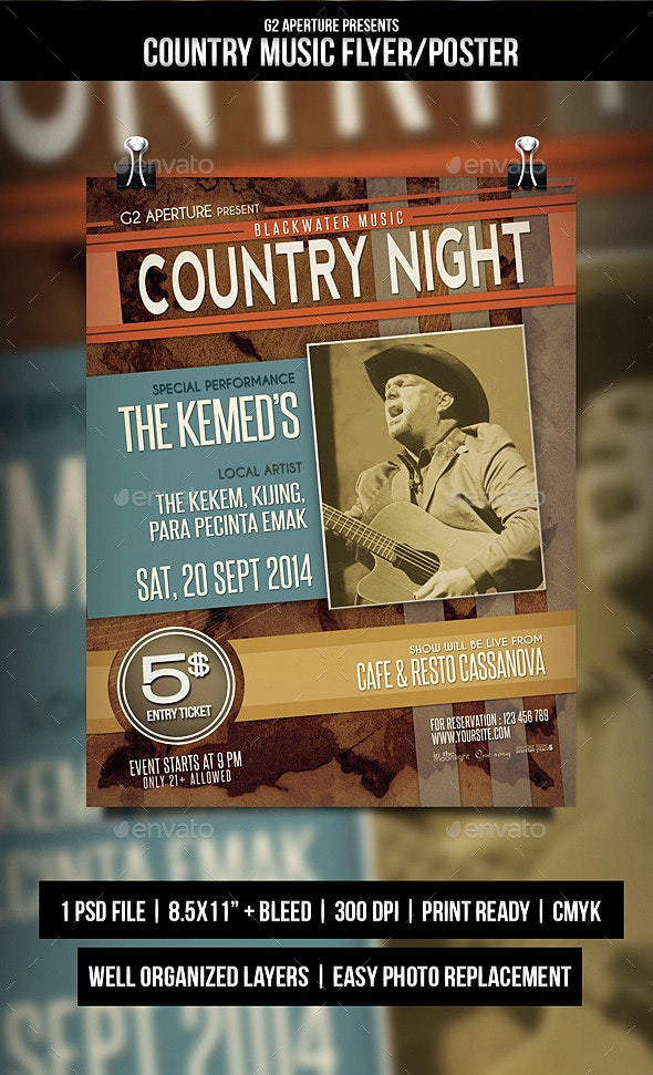 Country Music Flyer / Poster - Events Flyers